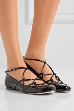 Marc Jacobs | Claudia Ghillie patent-leather ballet flats | NET-A-PORTER.COM