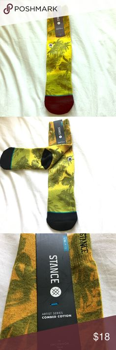 """Stance socks large/xtra large Stance socks """"Jah-Loha"""" Hawaiian 🌺 themed socks beautiful  bright colors yellow and green. Fits large to extra large 9-13 Stance Accessories Hosiery & Socks"""