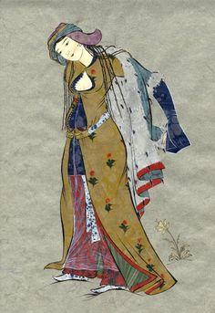 PERENDEBAZ KIZ Kai Arts, Arabic Art, Oriental, French Artists, Love Art, Painting Prints, Persian, Medieval, Iranian