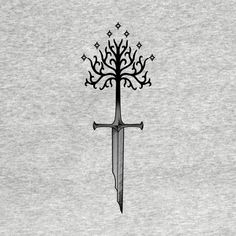 Check out this awesome 'narsil' design on - tattoo - Minimalist Tattoo Tolkien Tattoo, Tatouage Tolkien, Lotr Tattoo, Sword Tattoo, Hobbit Tattoo, Nerdy Tattoos, Cute Tattoos, Unique Tattoos, Tattoos For Guys