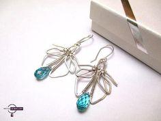 Silver earrings swarovski element crystal Light by PetyaJewelry