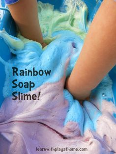 Learn with Play at Home: How to make Rainbow Soap Slime + #Win a years supply of Radiant