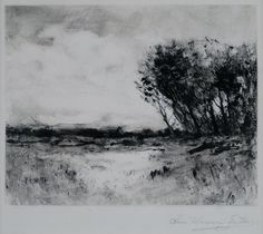 """""""Quiet Meadow,"""" Charles Warren Eaton, ca. 1900, monotype, 7 1/2 × 9 1/2"""", private collection."""