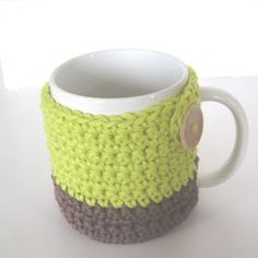 If I ever learn to crochet and drink coffee, I think I would make these!