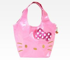 Hello Kitty Pink Tote Bag: Pink + Glitter #hellobaby