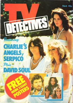 TV DETECTIVES POSTER MAGAZINE - CHARLIES ANGELS