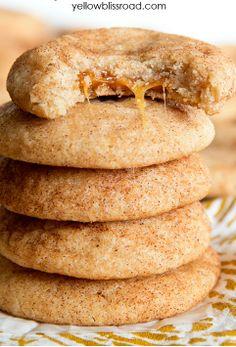 Caramel Stuffed Snickerdoodle Cookies Recipe
