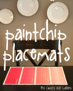 Moda Bake Shop: Paint Chip Placemats