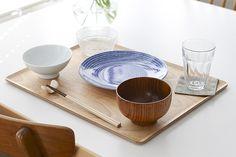 KINTO/プレイスマット/木のトレー(LL) - 北欧雑貨と北欧食器の通販サイト| 北欧、暮らしの道具店