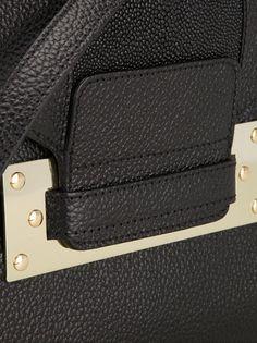 SOPHIE HULME - Black envelope clutch bag  #sophiehulme #sophiehulmebags #sophiehulmeclutch #clutchs #bags #shoulderbags #fashion