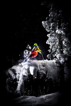 Backcountry Skiing by full moon.