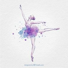 Hand drawn ballerina with ink splash Premium Vector Ballerina Drawing, Ballet Drawings, Ballerina Painting, Dancing Drawings, Art Drawings, Ballet Tattoos, Ballet Dancer Tattoo, Ballet Wallpaper, Dance Vector