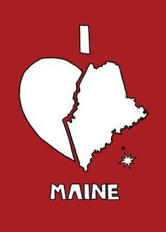 I love Maine Print