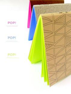 DIY: neon pop pocket notebooks