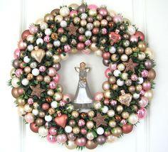 Adventskranz - Weihnachtskranz Türkranz Weihnachten Kugelkranz - ein Designerstück von My-Home-Fashion bei DaWanda