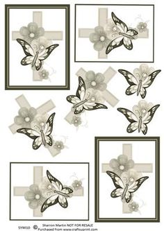 SYM10 Butterfly Cross on Craftsuprint - Add To Basket!