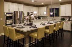 The kitchen in the Paige model by Richmond American Homes in Cadence. Richmond American Homes, Future House, Home Remodeling, Kitchen Dining, Kitchen Remodel, Sweet Home, New Homes, House Design, Interior Design