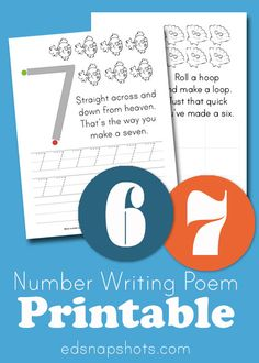 Learn to Write Numbers: Six and Seven | My 4-year-old LOVES these!