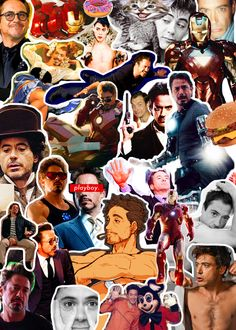 Collage of pictures - Robert Downey, Jr. <3