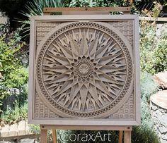 Wood Wall Art  Mandala 2Wood ArtWall PanelHome
