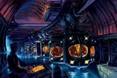 Concept art of the ride system. Image © Disney