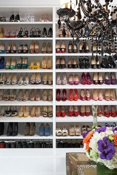 Yep, my closet will look something like this someday. Already got 40+ shoes towards that :D