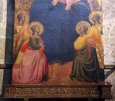 Agnolo Gaddi (attr.) - Madonna in trono col bambino e santi, dettaglio - 1350-1400 ca. - Pieve di San Lorenzo, Borgo San Lorenzo