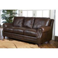 Luke Leather Solomon Italian Leather Sofa   Wayfair