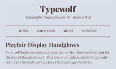 TypeWolf - best 40 free Google fonts