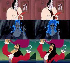 Cruella DeVil, Hades & Captain Hook Genderbent
