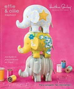 Elephant soft toy. Pattern and instructions.