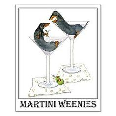 Martini dachshunds