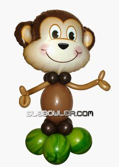 Air-Filled Funky Monkey Step-by-Step Design - The Very Best Balloon Blog
