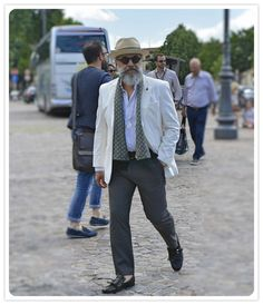 On the street Pitti Uomo Florence with Mr. Gianni Fontana www.maurodelsignore.com