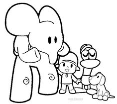 printable pocoyo coloring pages for kids | cool2bkids | film & tv ... - Pocoyo Friends Coloring Pages