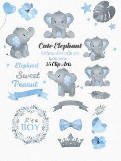 Elephant Theme, Elephant Baby Showers, Baby Elephant, Elephant Birthday, Baby Shower Niño, Baby Shower Parties, Baby Shower Themes, Dibujos Baby Shower, Moldes Para Baby Shower