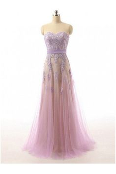 Prom Dresses,Lace Sweetheart Tulle Prom Dresses Evening Dresses