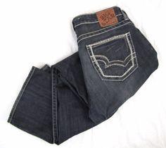 Big Star Women's Jeans 30 x 31 Hazel Curvy Fit Boot Cut Embroidered Pocket Denim #BigStar #BootCut