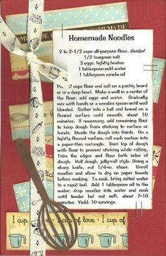 Paper Cottage: Recipe Kit of the Week - 01/17/2011