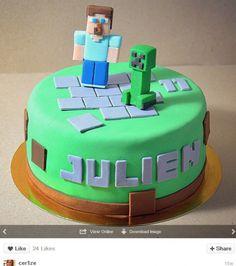 Gâteau d' anniversaire rigolo Minecraft