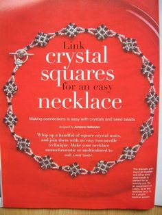Link crystal squares for an easy necklace - 1/2 - Beading necklaces