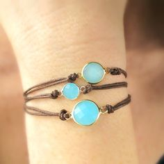 Blue Minimalist Gemstone Bracelets: Are you looking for a perfect gift that is simple and dainty? Do you love blue jewelry? Maybe you are looking for a minimalist gift for your mom this Mothers Day? Or perhaps you need a gift for your girlfriend whos birthday is coming up...Then you