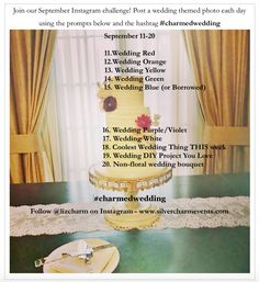 Charmedwedding Instagram Challenge Week 2 Prompts