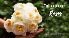 How to make a toilet paper rose ,so quick and realistic