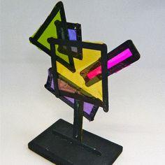 Neon Dimensional Shape Sculpture | AllFreeKidsCrafts.com