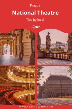 Explore a stunning performances of drama, ballet, and opera in National Theatre that features both the Czech history and contemporary society. River Bank, National Theatre, Prague, Great Places, Opera, Places To Visit, Drama, Ballet, Culture