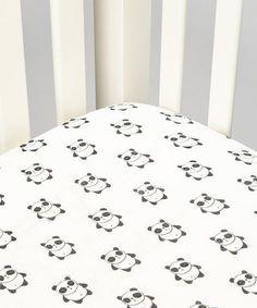 This Bambino Land White & Black Panda Organic Muslin Fitted Crib Sheet by Bambino Land is perfect! Panda Nursery, Baby Yoga, Parenting Done Right, Organic Baby Clothes, Baby Boy Nurseries, Baby Rooms, Crib Sheets, Swaddle Blanket, Baby Design