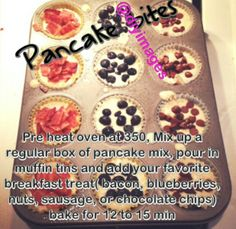 Pancakes brunch ideas - I'm going to try this with the girls!