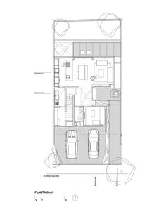 Image 17 of 28 from gallery of SGC House / René Sandoval. Craftsman Floor Plans, Small House Floor Plans, House Plans, Small Villa, Architectural Floor Plans, Container House Design, Ground Floor Plan, Home Design Plans, Architecture Plan