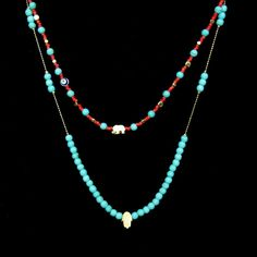 HamsaTurquoise necklace, simple necklace